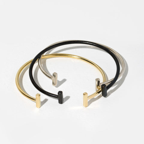 Double T Strand Bracelet | Mixed Metals