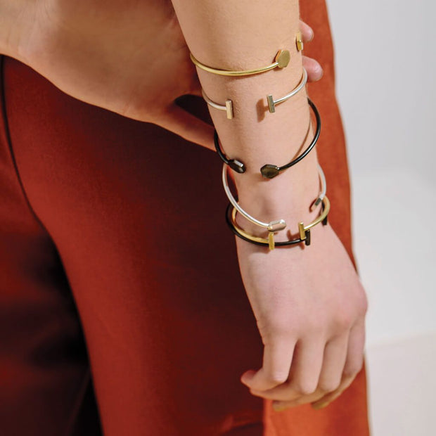 Strand Bracelet   Double T   Available in Finishes 1