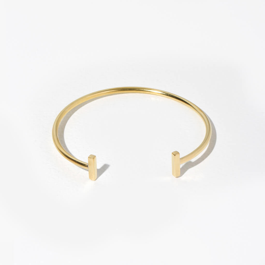 Double T Strand Cuff Bracelet by MULXIPLY