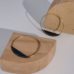 Bold ethical statement jewelry bangle handmade by Mulxiply