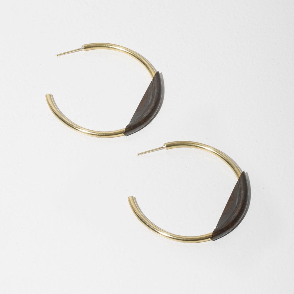 Earth + Sky Hoop Earrings by MULXIPLY