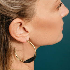Ethically made fair trade hoop earrings by MULXIPLY
