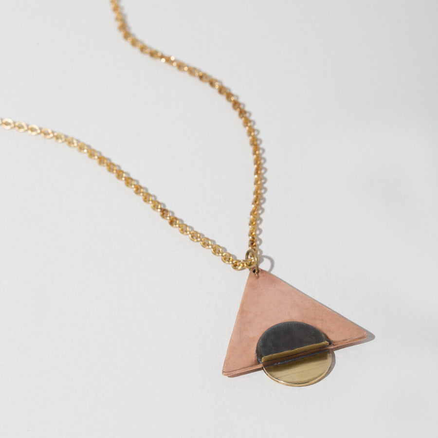 Earth + Sky Pendant Necklace by MULXIPLY