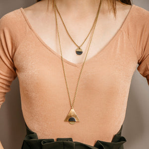Designed to be worn alone or layered with other pieces this necklace is ethically made and fair trade
