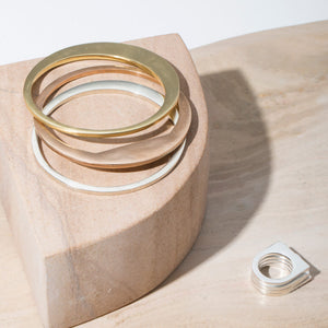 minimalist bangles made with the highest quality metals by MULXIPLY