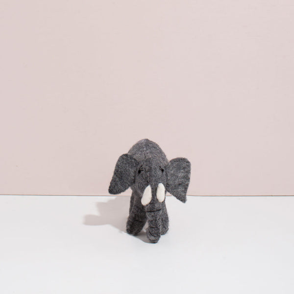 Hand Felted Baby Elephant