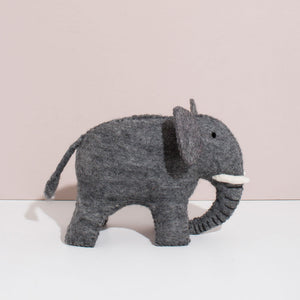 MULXIPLY Hand Felted Elephant - Large Stuffed Animals