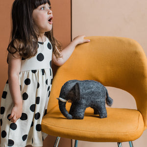 Hand Felted Elephant - Large