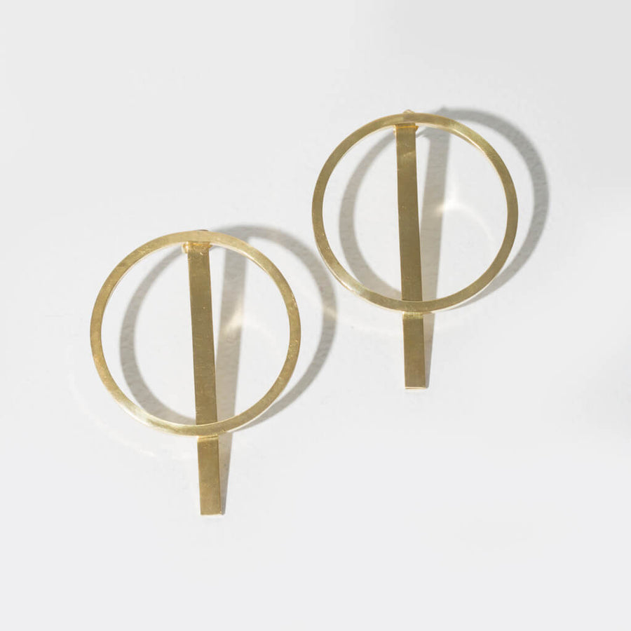 MULXIPLY Embrace 2-in-1 Earrings - Brass