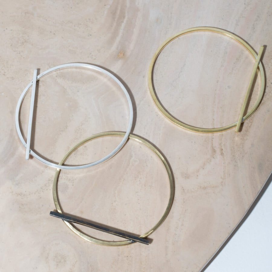 MULXIPLY Embrace Bangle - Mixed Metals
