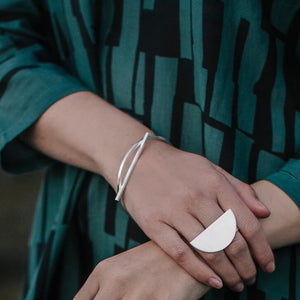 Embrace Bangle - Sterling Silver