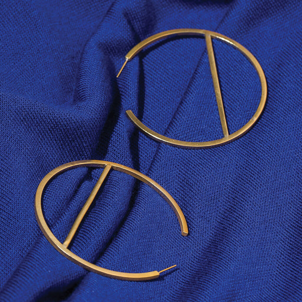 Embrace Hoop Earrings | Brass