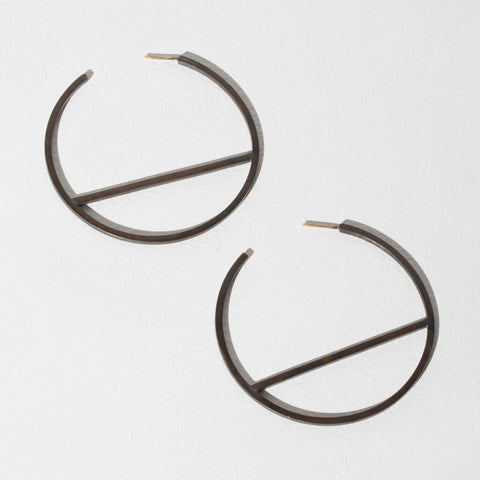Embrace Hoop Earrings | Oxidized Brass