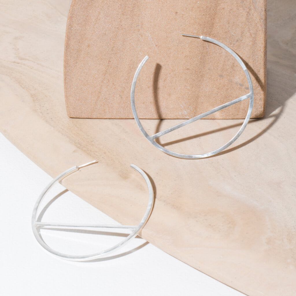 MULXIPLY Embrace Hoop Earrings - Sterling Silver