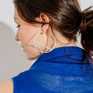 Embrace Hoop Earrings - Sterling Silver