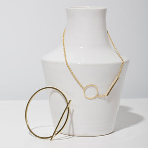 Embrace Link Necklace - Brass