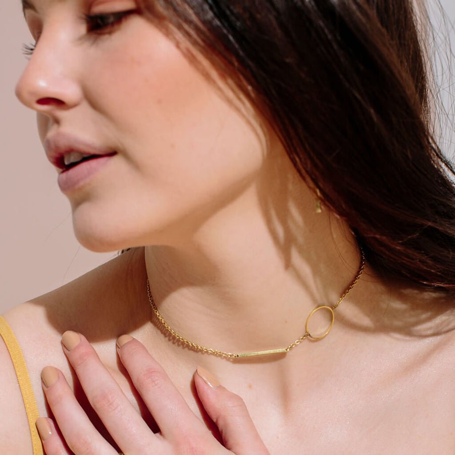 MULXIPLY Embrace Link Necklace - Brass