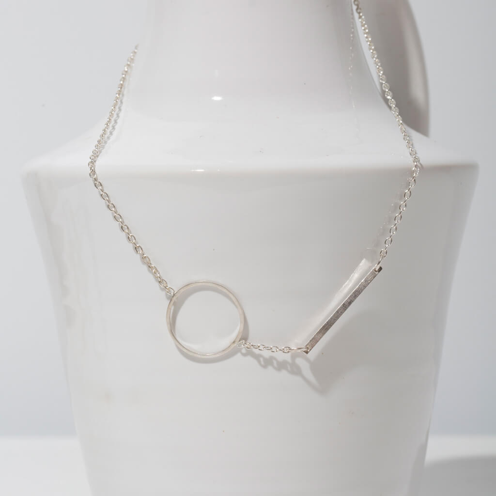 MULXIPLY Embrace Link Necklace - Sterling Silver