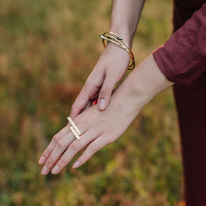 Embrace Wrap Ring - Brass