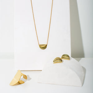 Minimalist, modern jewelry by MULXIPLY made by fairtrade artists.