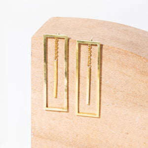 Foundation 2-in-1 Earrings | Brass