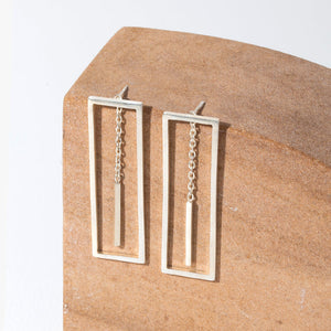 Foundation 2-in-1 Earrings - Sterling Silver