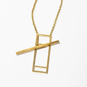 Foundation Lariat Necklace - Brass