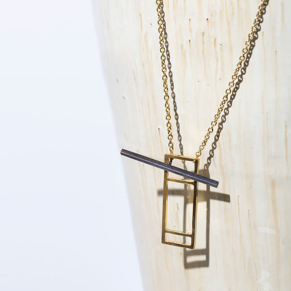 Foundation Lariat Necklace | Mixed Metals