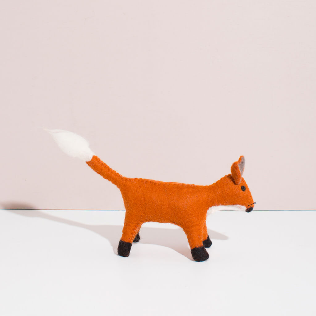Hand Felted Small Fox