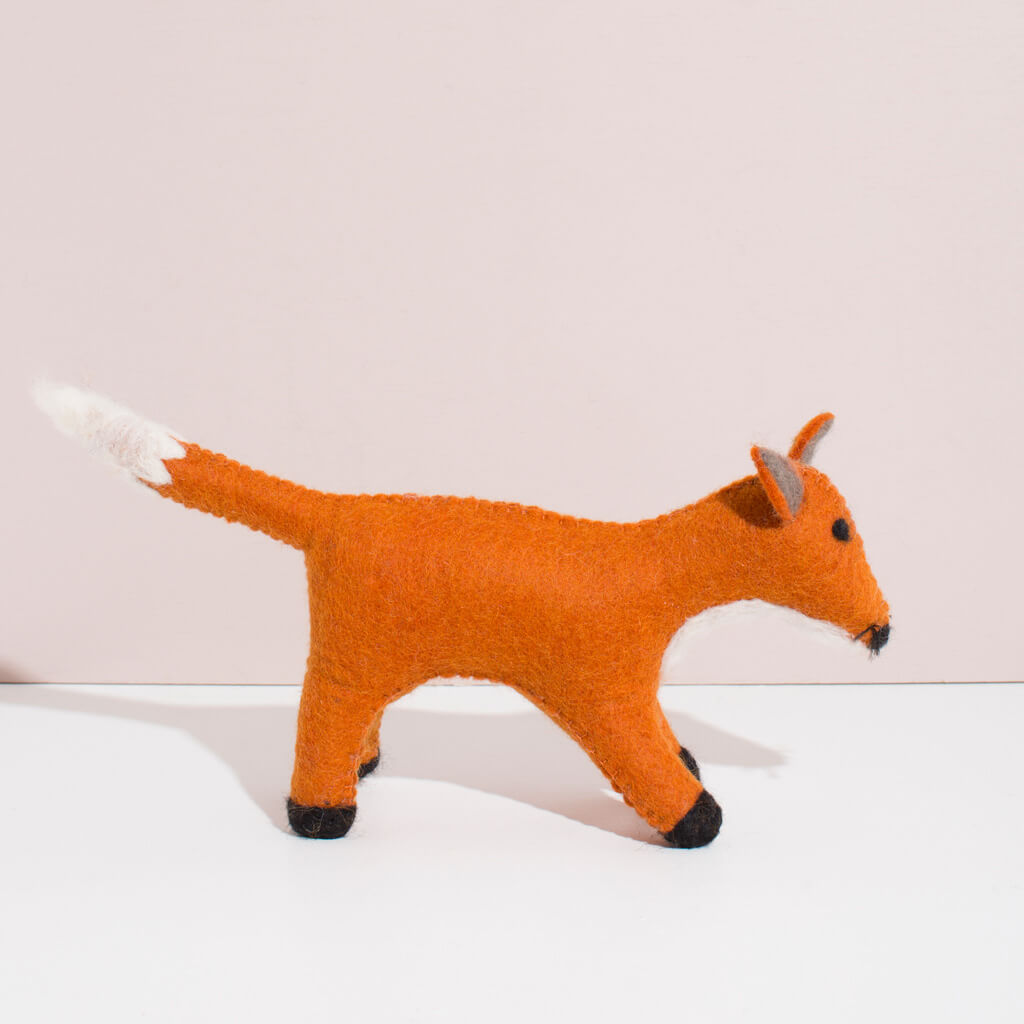 Hand Felted Large Fox