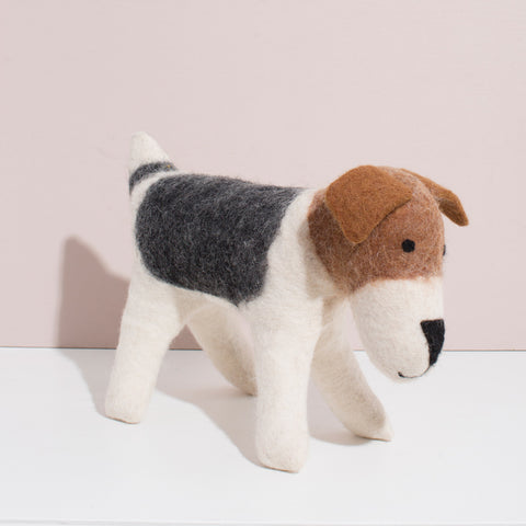 Hand Felted Large Terrier Dog