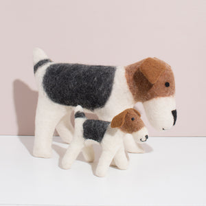 Hand Felted Terrier Duo
