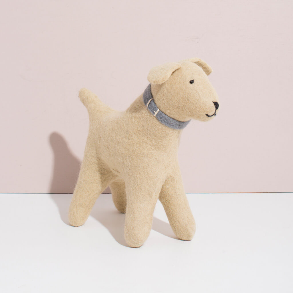 Hand Felted Large Golden Retriever