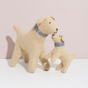 Hand Felted Golden Retriever Duo