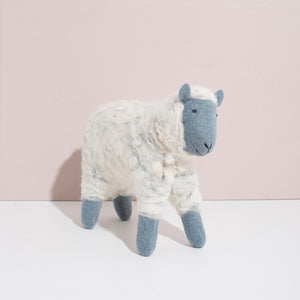 MULXIPLY Hand Felted Grey Sheep - Large Stuffed Animal