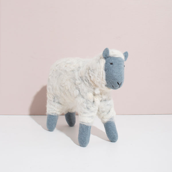 Hand Felted Large Sheep - Grey