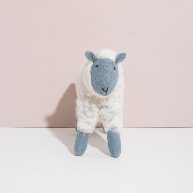 Hand Felted Grey Sheep   Large 1