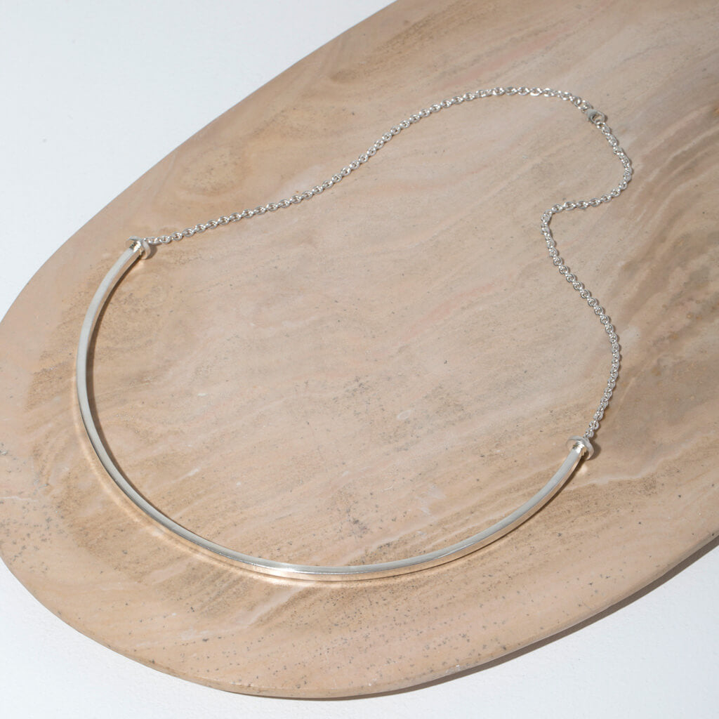 MULXIPLY Horizon Choker Necklace in Sterling Silver