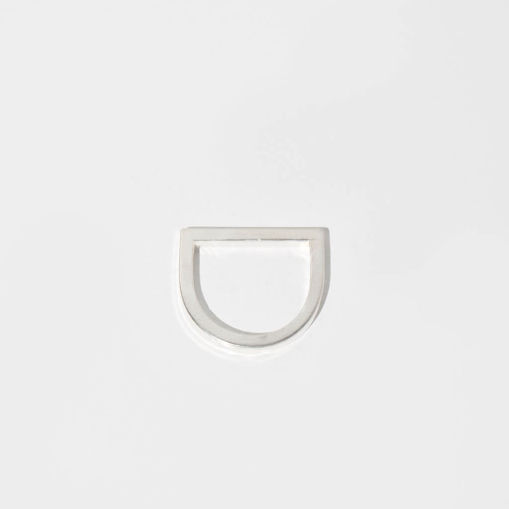 MULXIPLY Minimalist Horizon Ring in Sterling Silver