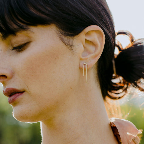 Loop Earrings | Brass