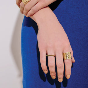 Moon Adjustable Cuff Ring - Brass
