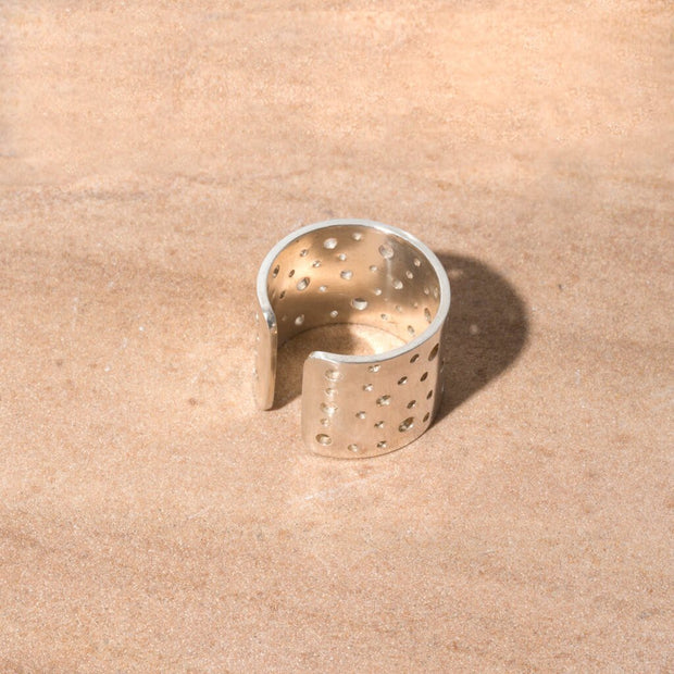 Moon Adjustable Cuff Ring | Sterling 1