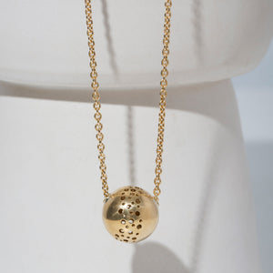 Moon Necklace | Brass or Sterling