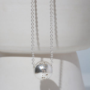 MULXIPLY Moon Necklace in Sterling Silver