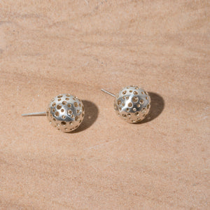 MULXIPLY Moon Stud Earrings - Sterling Silver