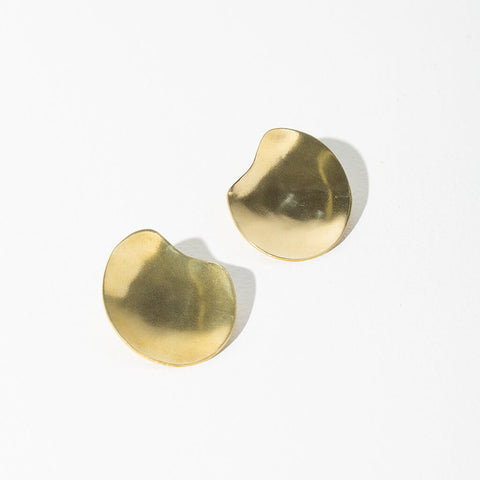 Palette Earrings | Brass
