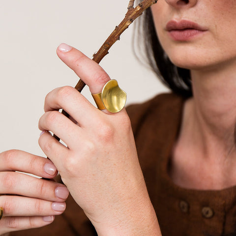Palette Adjustable Ring | Brass