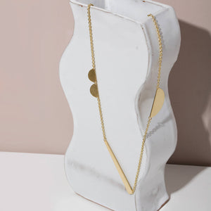 MULXIPLY Path Pendant Necklace - Brass