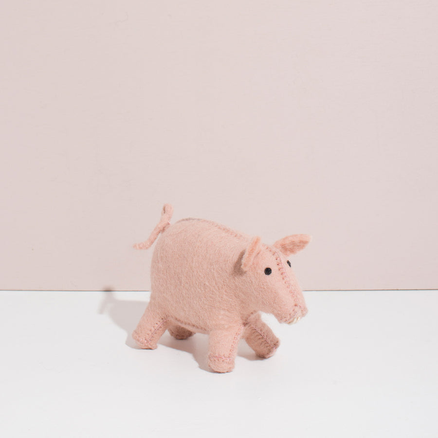 MULXIPLY Hand Felted Pig Stuffed Animal
