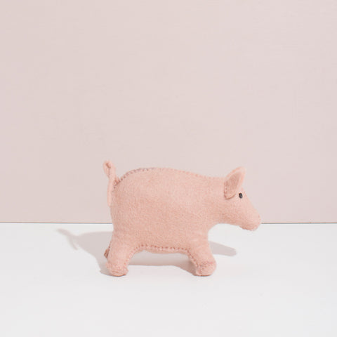 Hand Felted Pig